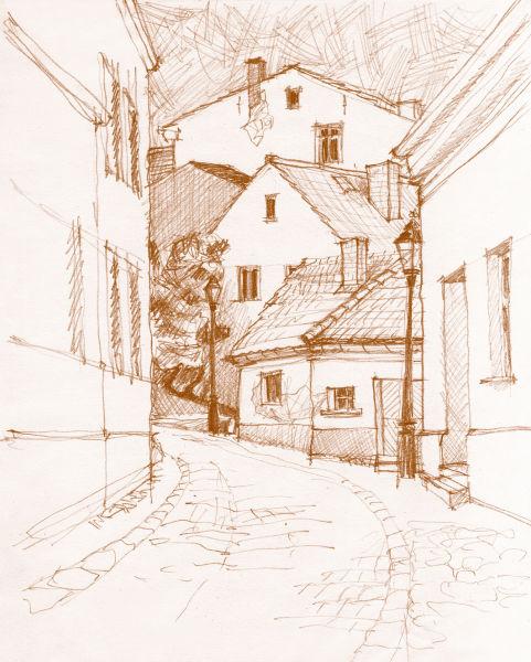 Ambrus Ausstellung Insel Werder Zeichnungen