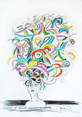 Idylle Zeichnung Bärbel Ambrus